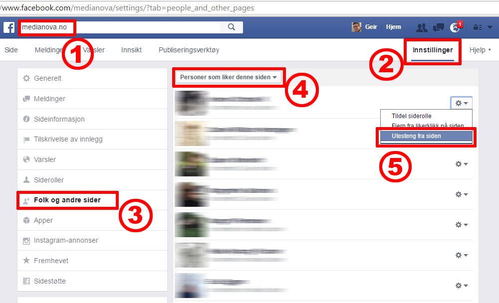 facebook utesteng person fra side 5 step